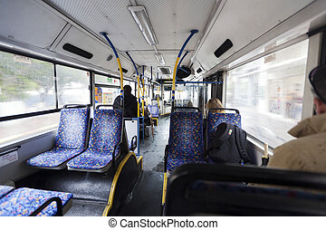 Mañana de invierno en autobús israelí