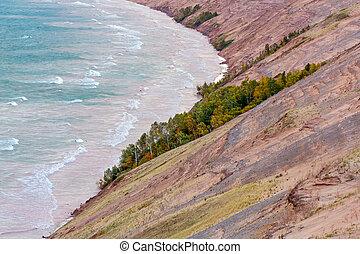 Mañana de otoño en las grandes dunas de marta