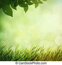 Mañana de verano en el bosque, antecedentes naturales