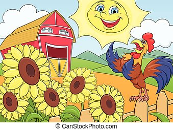 Mañana de verano en la granja