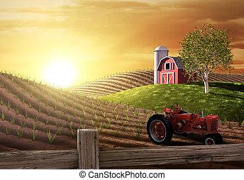 Mañana en la granja