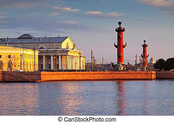 mañana, saliva, isla, verano, vasilievsky