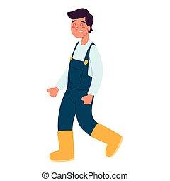 macho, carácter, granjero