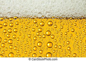 Macro de cerveza refrescante