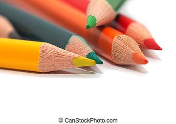 macro, pencils., coloreado