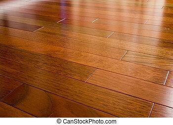 madera dura, cereza, brasileño, piso