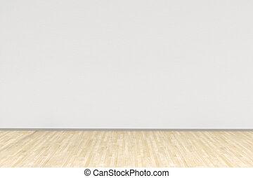 madera dura, sitio blanco, piso
