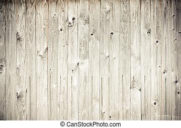 madera erosionada, tablón, cerca