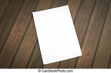 madera, reemplazar, diseño, 3d, ilustración, render, vacío, aislado, hoja, blanco, plano de fondo, su