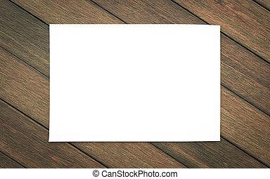 madera, reemplazar, diseño, 3d, ilustración, render, vacío, aislado, horicontal, hoja, blanco, plano de fondo, su