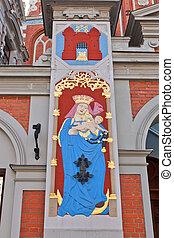 Madonna embarazada. Casa de negros, riga, Letonia