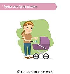 Madre se preocupa por el recién nacido
