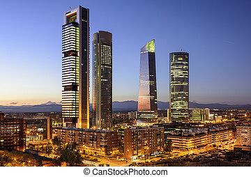 madrid, financiero, españa, distrito