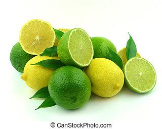 maduro, cal, limones
