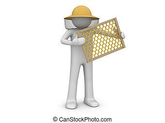 Maestro de abejas, colección de obreros