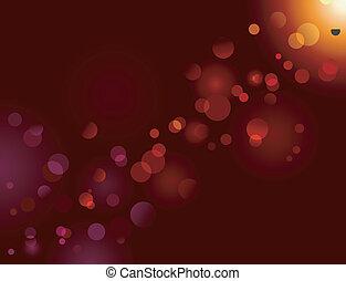 magia, destello, luz, bokeh, efecto, dots;, vector