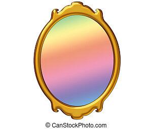 magia, espejo