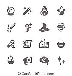 magia, iconos