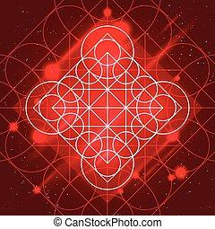 magia, señal, geometría
