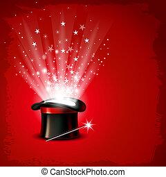 magia, sombrero