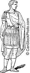 magistrado, vendimia, romano, grabado