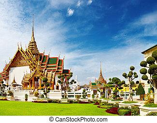 magnífico, bangkok, tailandia, palacio