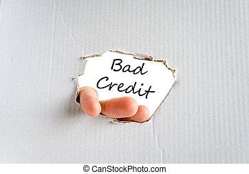 Mal concepto de texto de crédito