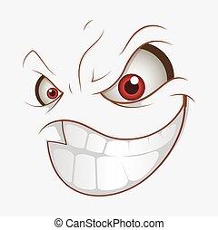 Mal dibujo animado sonrisa maligna