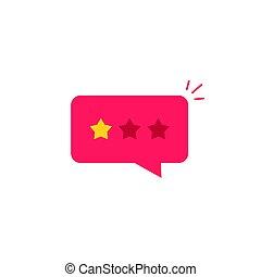 Mala crítica de icono, críticas de estrellas de tasa negativa, mensaje testimonial