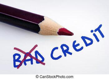 Malas palabras de crédito