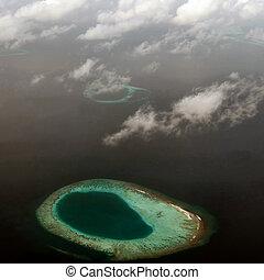 maldivas, atolón