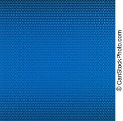 Malla de metal azul