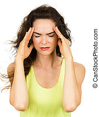 malo, mujer, dolor de cabeza