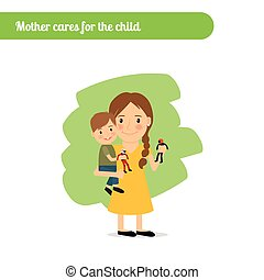 Mamá se preocupa por el niño
