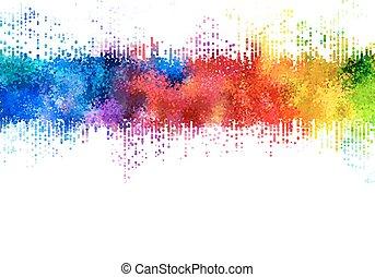Manchas de arco iris.