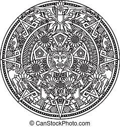 mandala, azteca