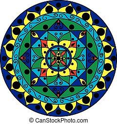 mandala, multicolor