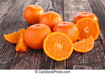 mandarín, fruta, mandarina, o
