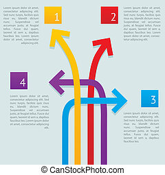 maneras, flechas, infographics