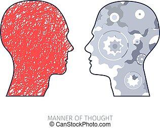 maneras, pensamiento, diferente