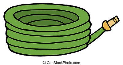 manguera, verde