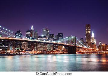 Manhattan Skyline y Brooklyn Bridge