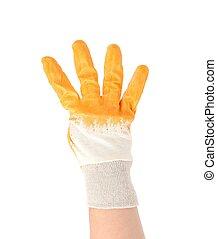 Mano a mano mostrando cuatro dedos.