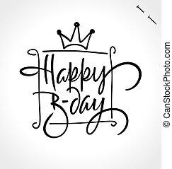 mano, feliz, letras, cumpleaños