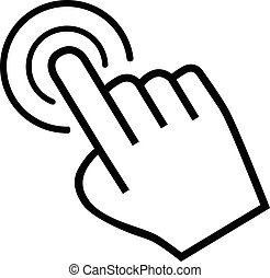 mano grande, plano de fondo, blanco, cursor, icono