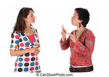 mano, personas, se manifestar, sordo