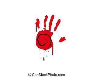 mano, plano de fondo, misterio, ilustración, blanco, vector, icono