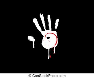 mano, plano de fondo, misterio, ilustración, negro, vector, icono