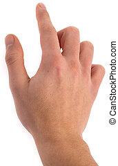 mano, símbolo, clic