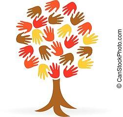 Manos de árbol, logotipo de la gente